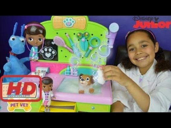 NEW Doc McStuffins Veterinarian Clinic – Pet Vet Puppy Findo Bubble Bath | Disney  Jr Toys